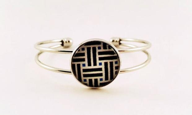 bracelet motif géométrique
